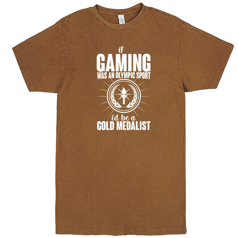 """If Gaming Were an Olympic Sport, I'd Be a Gold Medalist"" men's t-shirt Vintage Camel"