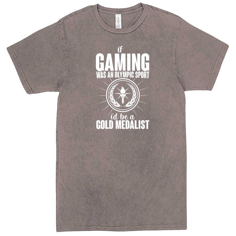 """If Gaming Were an Olympic Sport, I'd Be a Gold Medalist"" men's t-shirt Vintage Zinc"