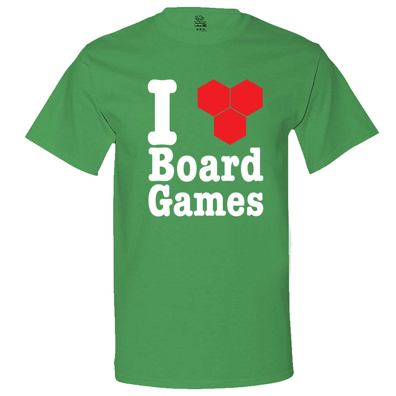 """I Love Board Games"" men's t-shirt Irish-Green"