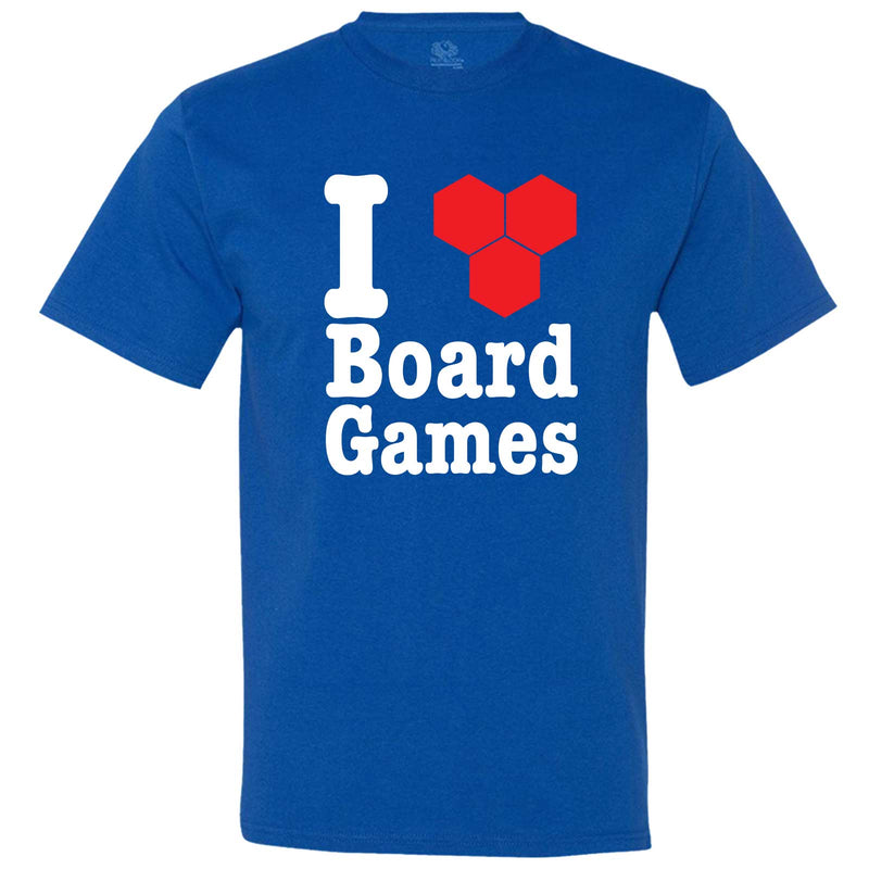 """I Love Board Games"" men's t-shirt Royal-Blue"