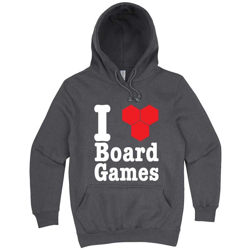 """I Love Board Games"" hoodie, 3XL, Storm"