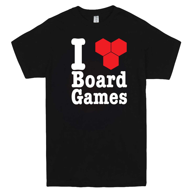 """I Love Board Games"" men's t-shirt Black"