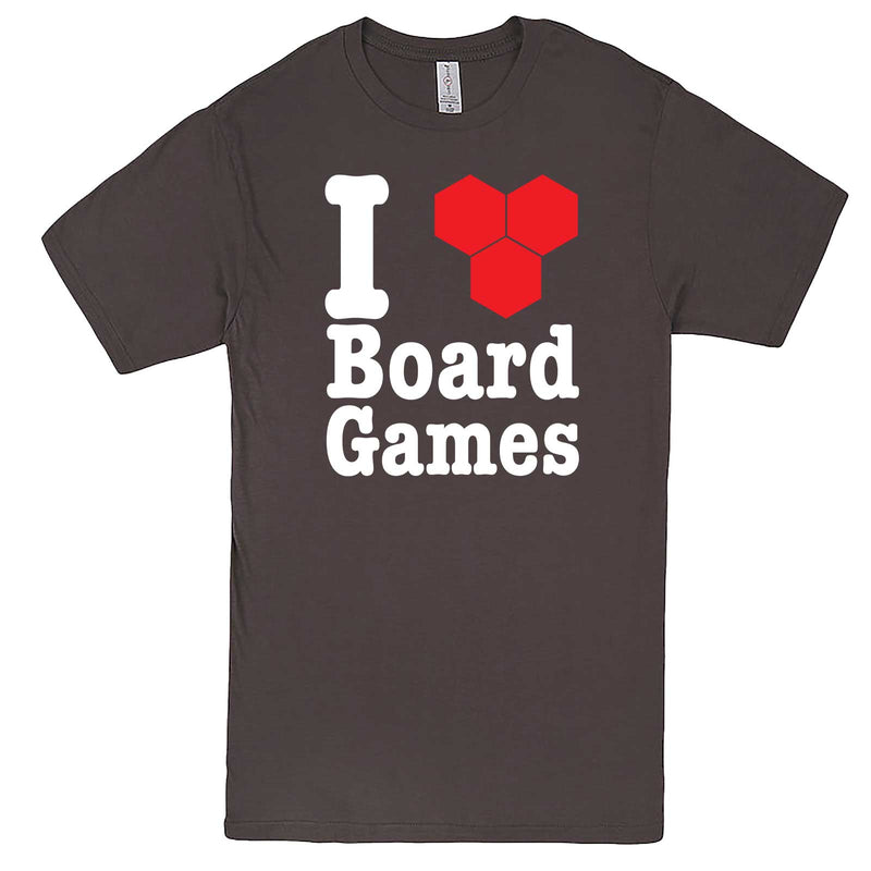 """I Love Board Games"" men's t-shirt Charcoal"