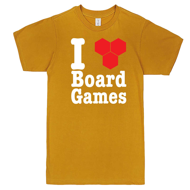 """I Love Board Games"" men's t-shirt Mustard"