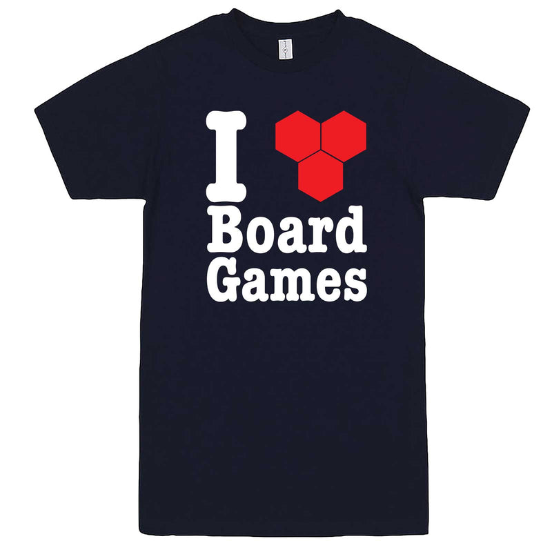 """I Love Board Games"" men's t-shirt Navy-Blue"