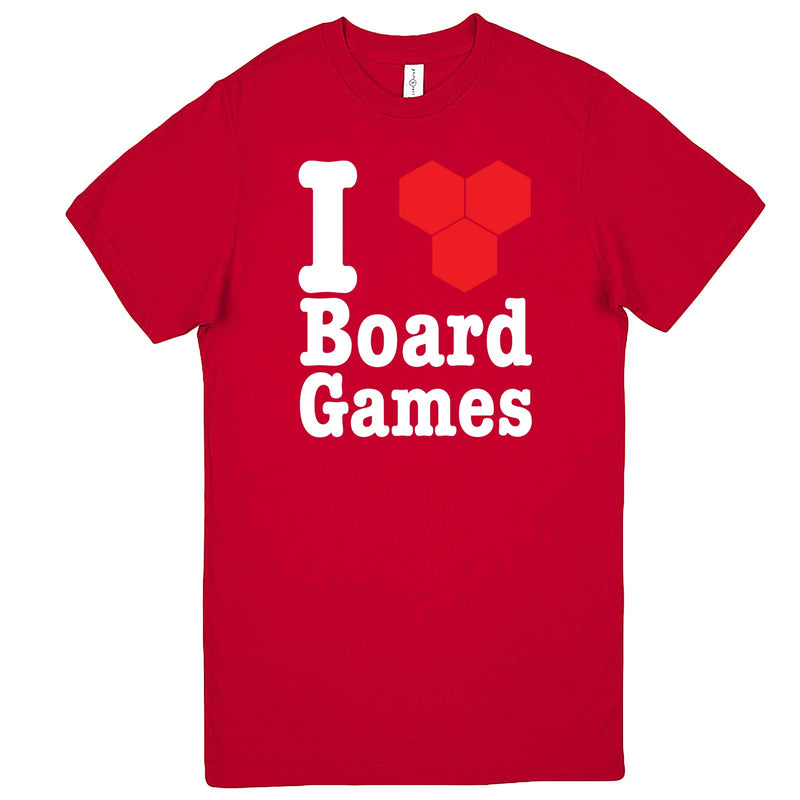 """I Love Board Games"" men's t-shirt Red"