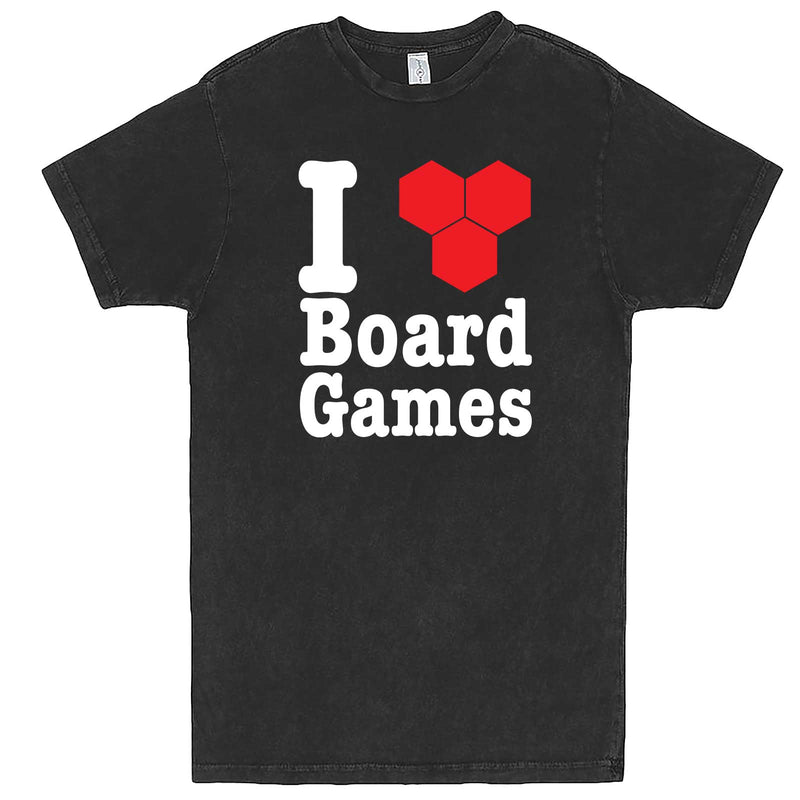 """I Love Board Games"" men's t-shirt Vintage Black"