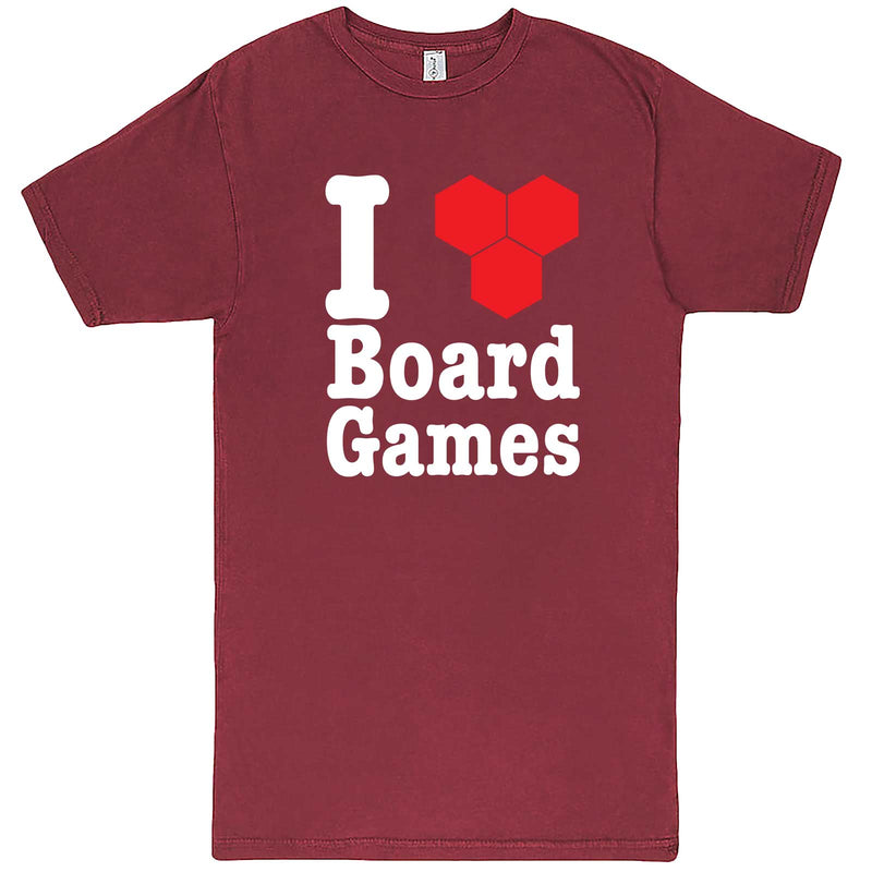 """I Love Board Games"" men's t-shirt Vintage Brick"