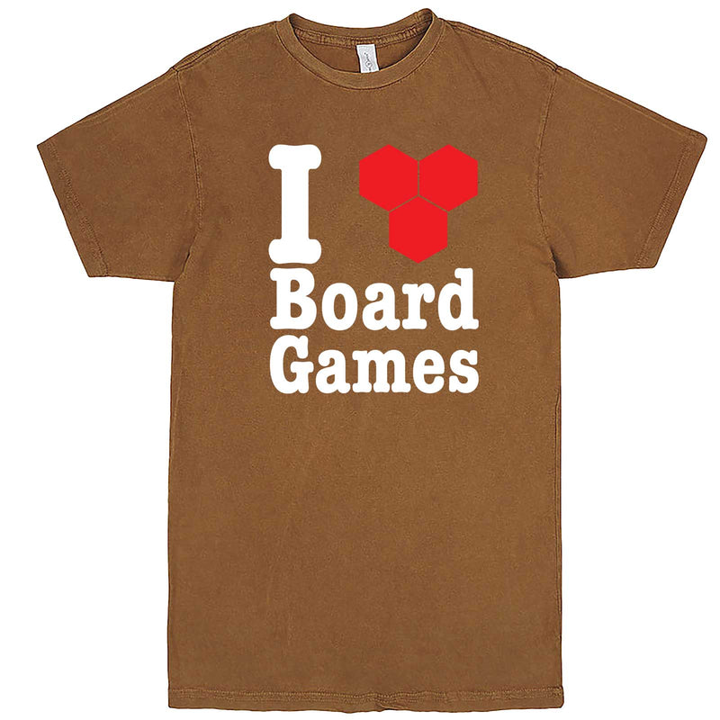 """I Love Board Games"" men's t-shirt Vintage Camel"