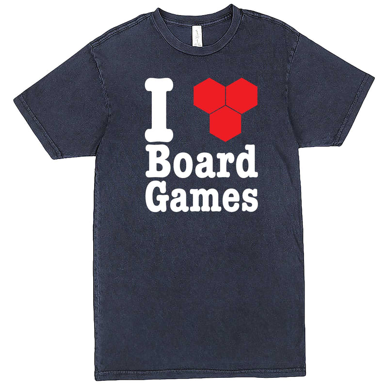 """I Love Board Games"" men's t-shirt Vintage Denim"