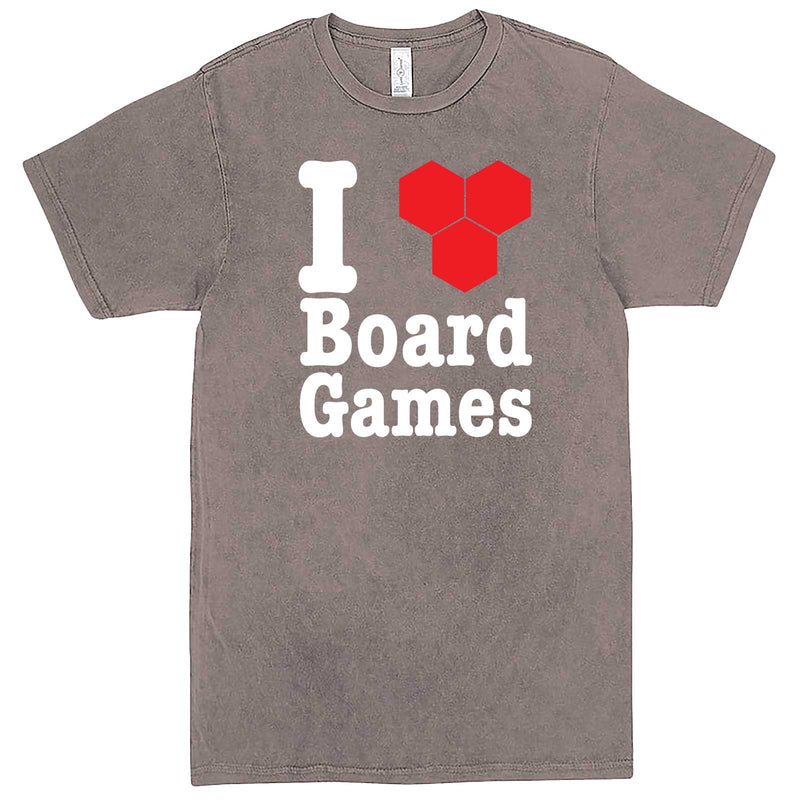 """I Love Board Games"" men's t-shirt Vintage Zinc"