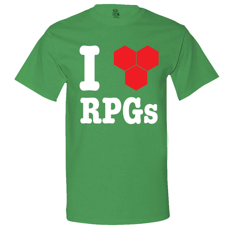 """I Love Role-Playing Games"" men's t-shirt Irish-Green"
