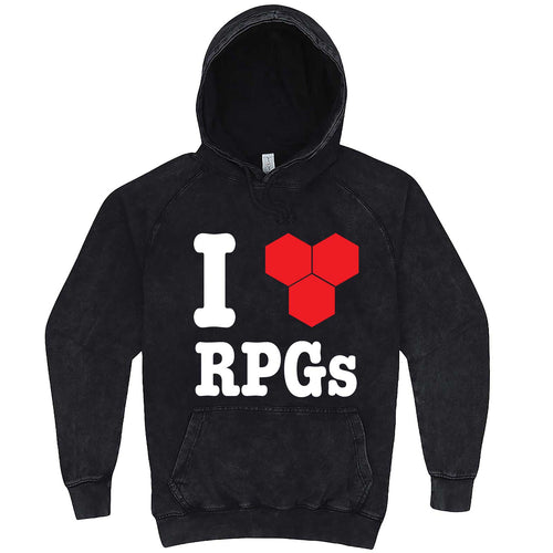 """I Love Role-Playing Games"" hoodie, 3XL, Vintage Black"