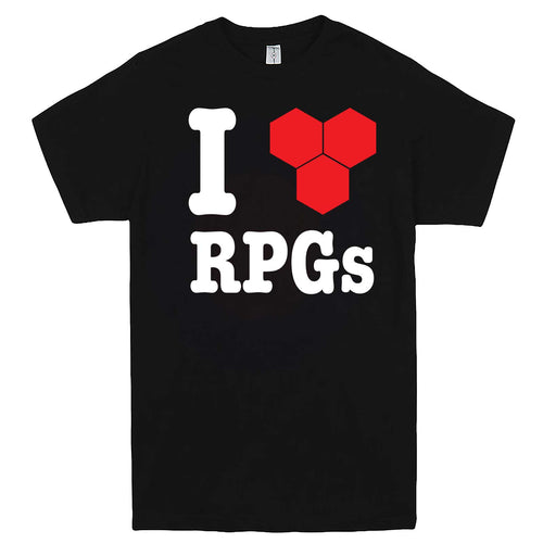 """I Love Role-Playing Games"" men's t-shirt Black"