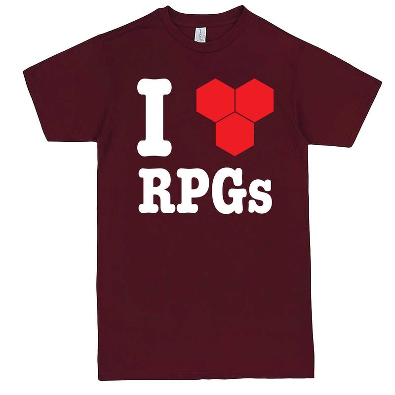 """I Love Role-Playing Games"" men's t-shirt Burgundy"