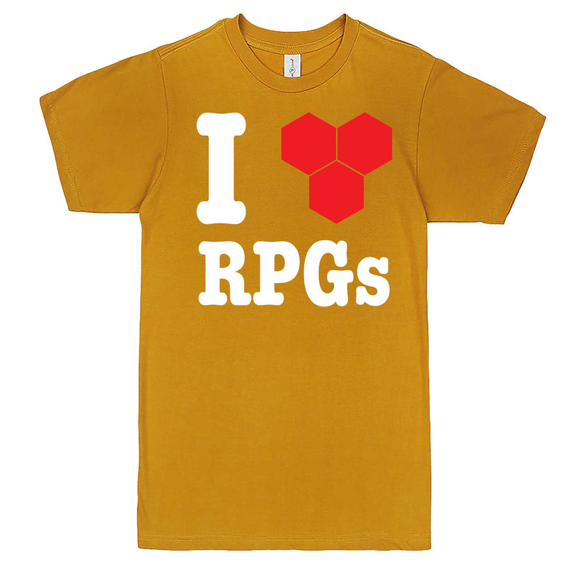 """I Love Role-Playing Games"" men's t-shirt Mustard"
