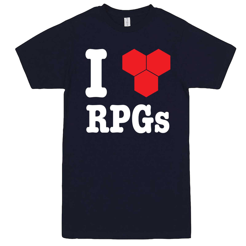 """I Love Role-Playing Games"" men's t-shirt Navy-Blue"