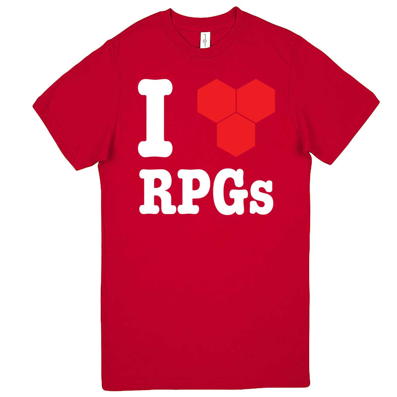 """I Love Role-Playing Games"" men's t-shirt Red"