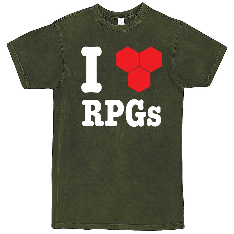 """I Love Role-Playing Games"" men's t-shirt Vintage Olive"