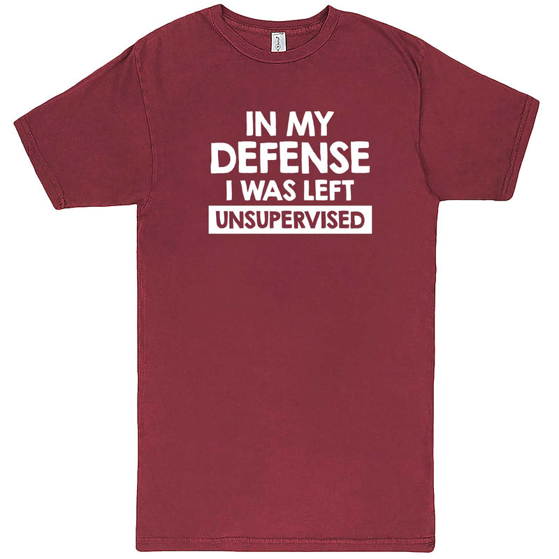 """In My Defense, I Was Left Unsupervised"" men's t-shirt Vintage Brick"