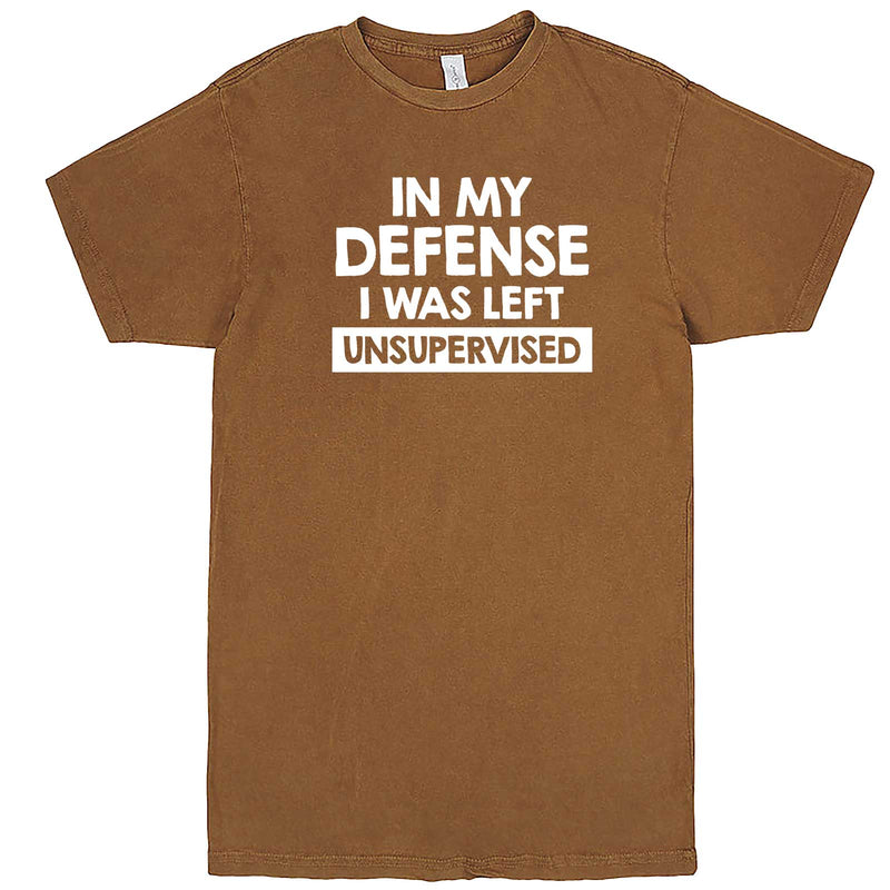 """In My Defense, I Was Left Unsupervised"" men's t-shirt Vintage Camel"