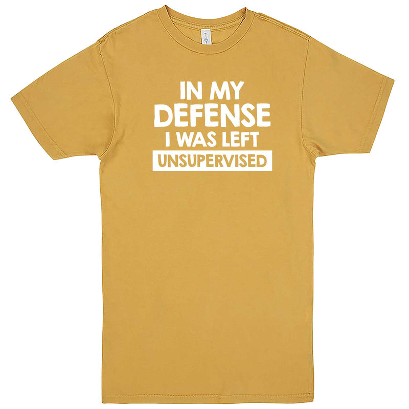 """In My Defense, I Was Left Unsupervised"" men's t-shirt Vintage Mustard"