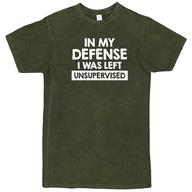 """In My Defense, I Was Left Unsupervised"" men's t-shirt Vintage Olive"