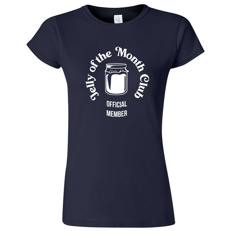 """Jelly of the Month Club"" women's t-shirt Navy Blue"