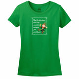 May The Leprechauns Dance Over Your Bed And Bring You Sweet Dreams Womens Tee
