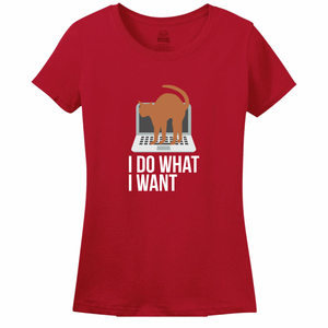 I DO WHAT I WANT CAT Women's tee