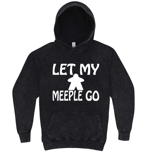 """Let My Meeple Go"" hoodie, 3XL, Vintage Black"