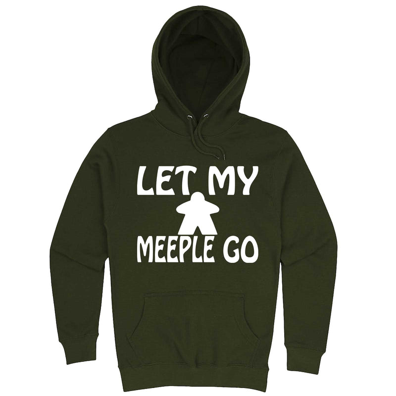 """Let My Meeple Go"" hoodie, 3XL, Army Green"