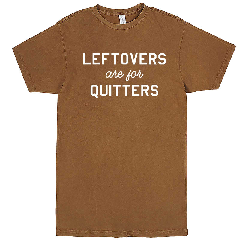 """Leftovers Are For Quitters"" men's t-shirt Vintage Camel"