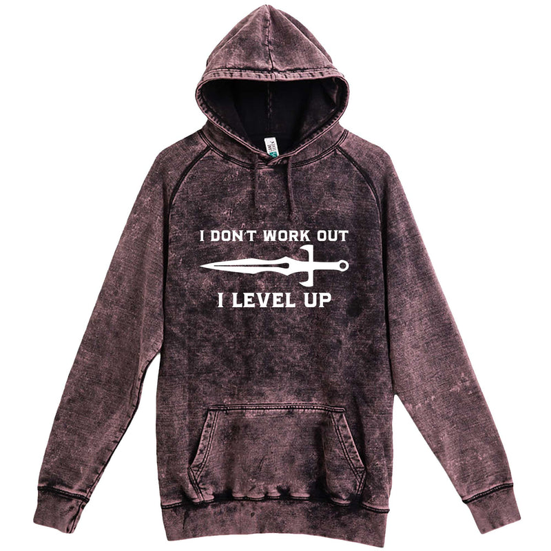 """I Don't Work Out, I Level Up - RPGs"" hoodie, 3XL, Vintage Cloud Black"