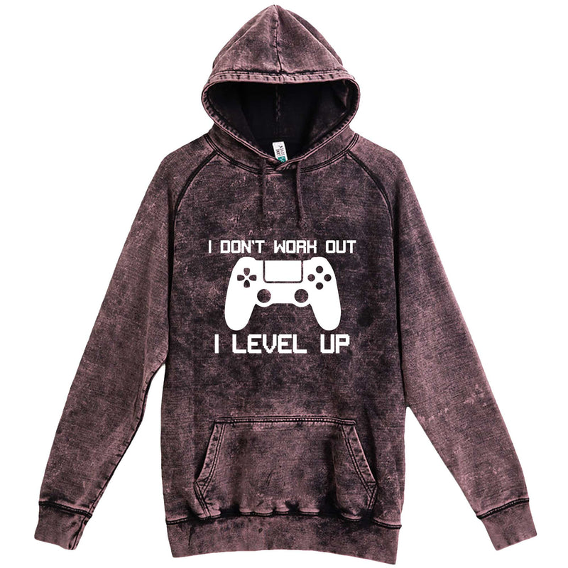 """I Don't Work Out, I Level Up - Video Games"" hoodie, 3XL, Vintage Cloud Black"
