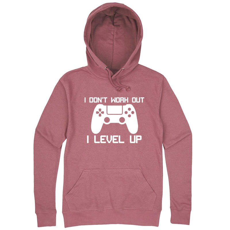 """I Don't Work Out, I Level Up - Video Games"" hoodie, 3XL, Mauve"