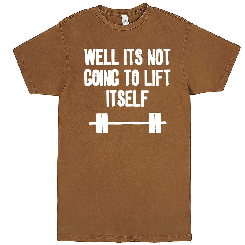 """Well It's Not Going to Lift Itself"" men's t-shirt Vintage Camel"