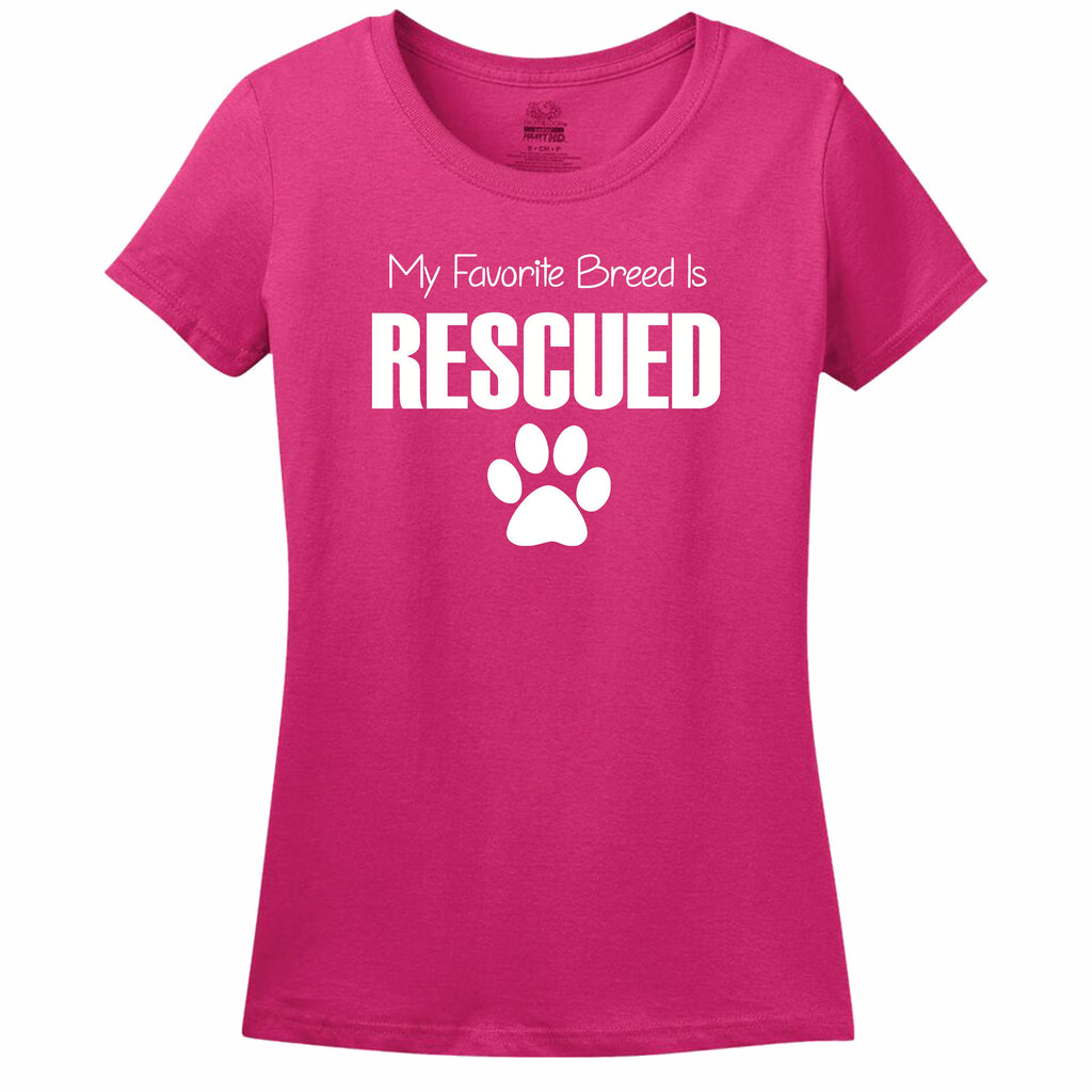 My Favorite Breed Is Rescued Women's T-Shirt