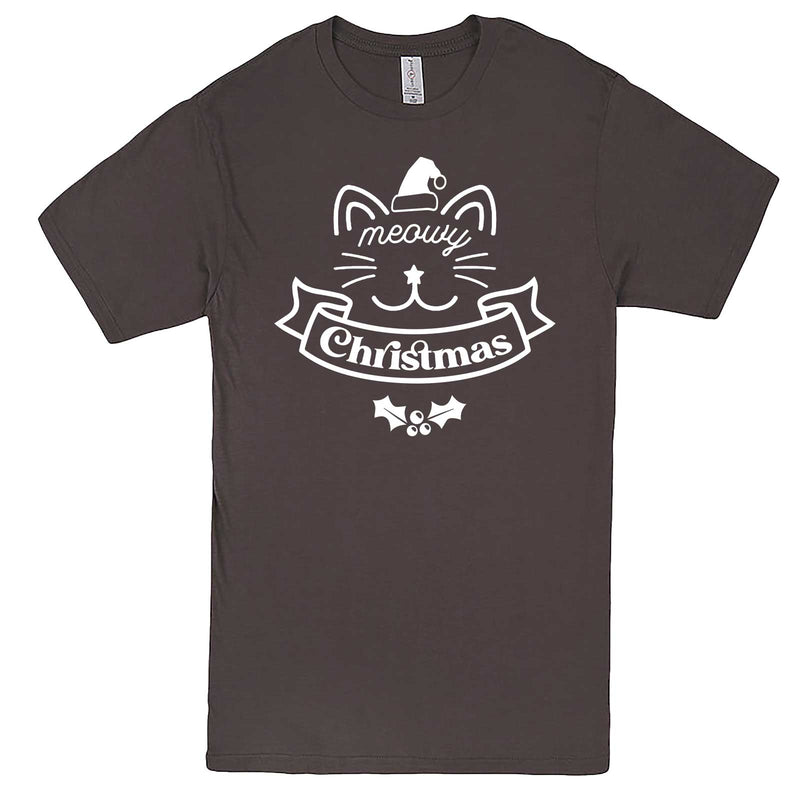 """Adorable Meowy Christmas kitty"" men's t-shirt Charcoal"