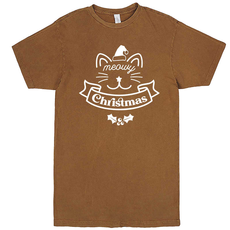 """Adorable Meowy Christmas kitty"" men's t-shirt Vintage Camel"