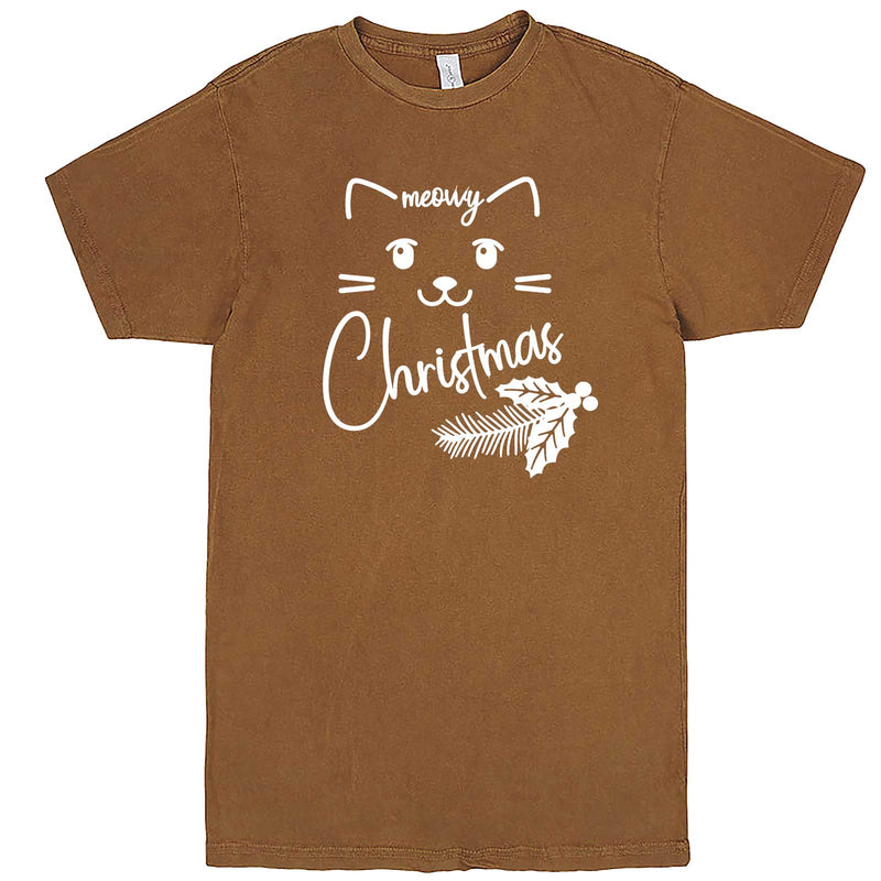 """Sweet Meowy Christmas kitty"" men's t-shirt Vintage Camel"