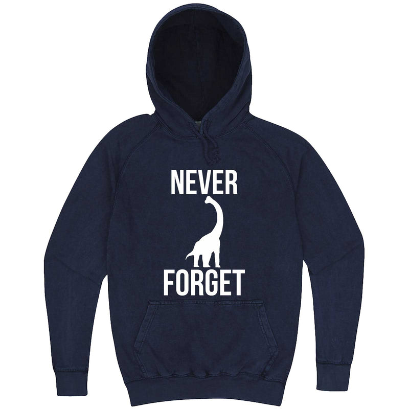 """Never Forget - Dinosaur"" hoodie, 3XL, Vintage Denim"