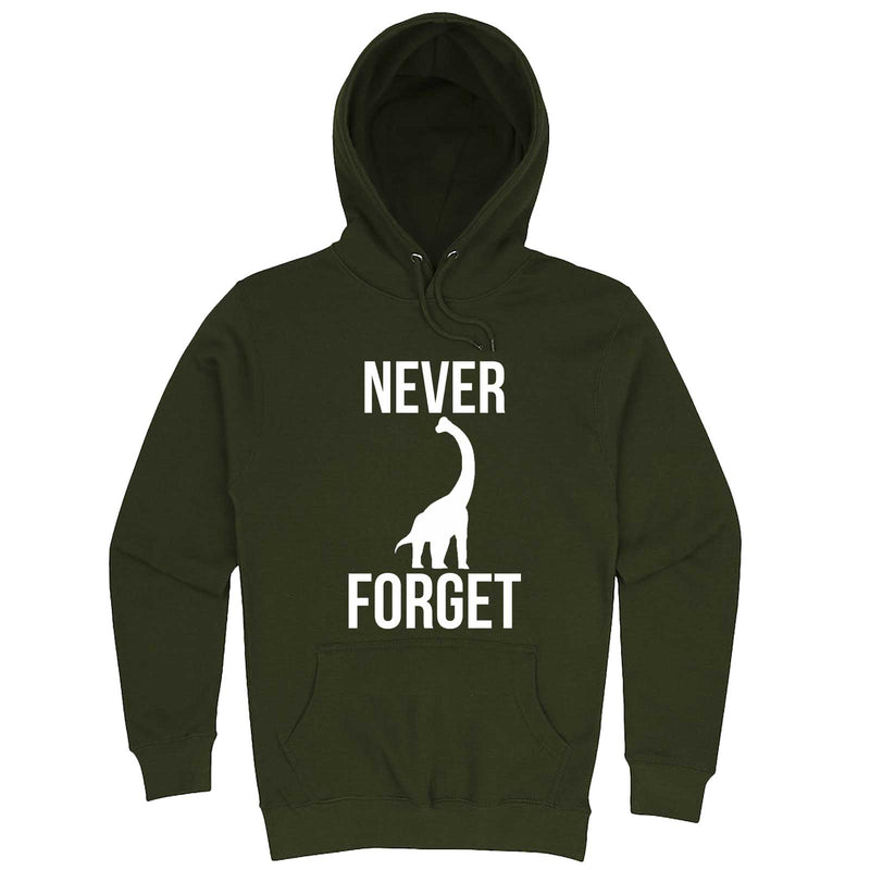 """Never Forget - Dinosaur"" hoodie, 3XL, Army Green"