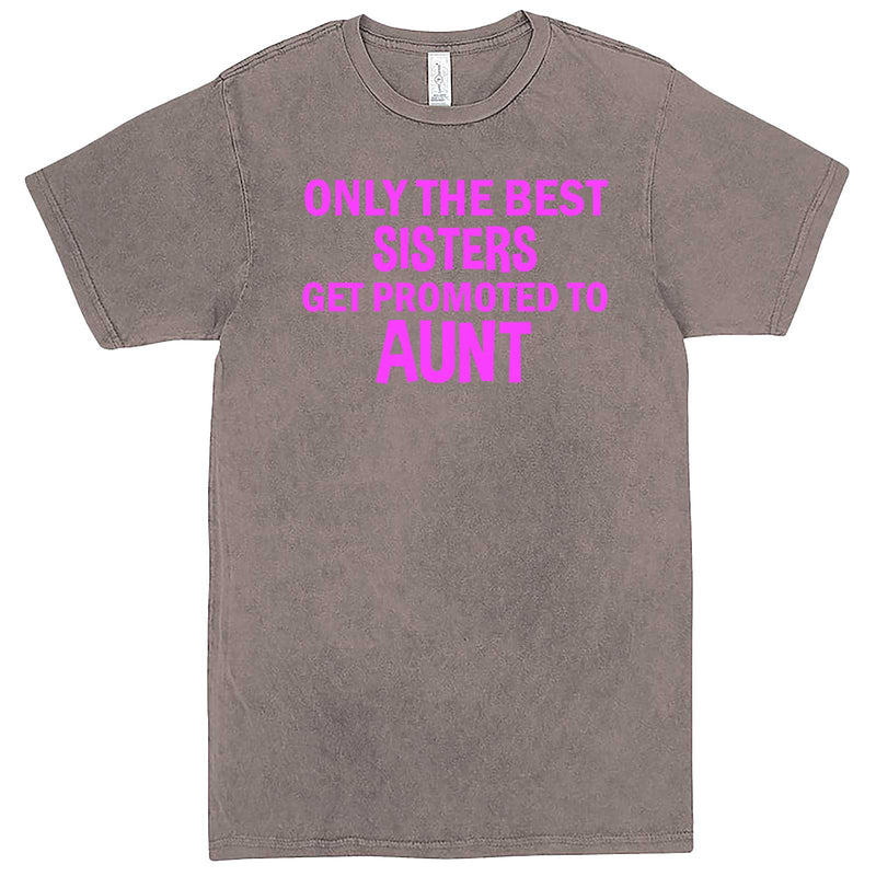 """Only the Best Sisters Get Promoted to Aunt, pink text"" men's t-shirt Vintage Zinc"