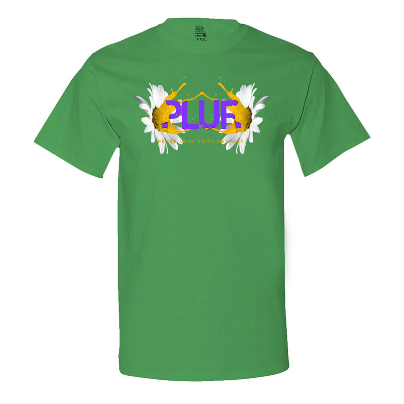 """PLUR - Peace, Love, Unity, Respect"" Men's Shirt Irish-Green"