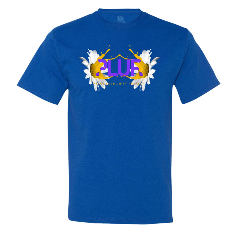 """PLUR - Peace, Love, Unity, Respect"" Men's Shirt Royal-Blue"