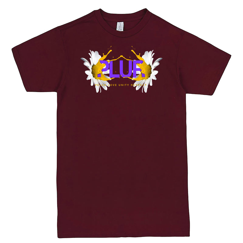 """PLUR - Peace, Love, Unity, Respect"" Men's Shirt Burgundy"