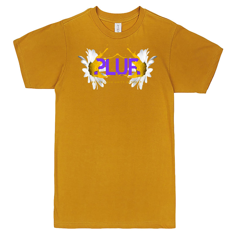 """PLUR - Peace, Love, Unity, Respect"" Men's Shirt Mustard"