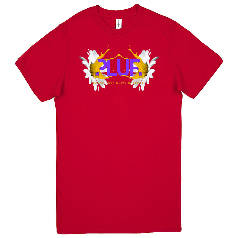 """PLUR - Peace, Love, Unity, Respect"" Men's Shirt Red"