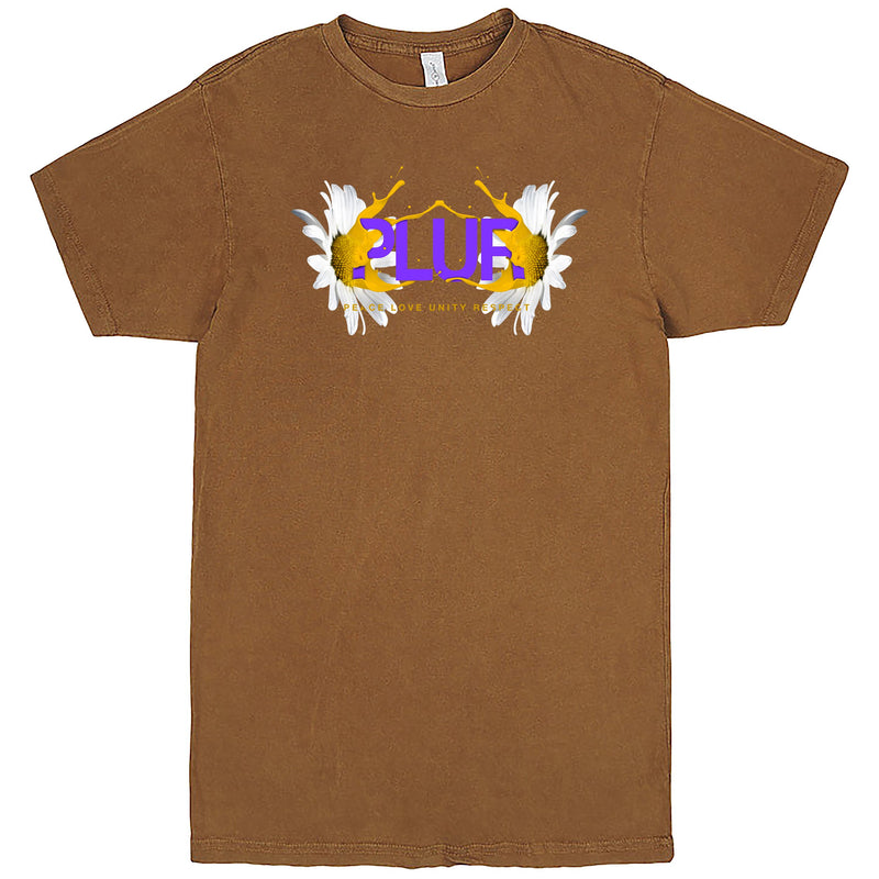 """PLUR - Peace, Love, Unity, Respect"" Men's Shirt Vintage Camel"